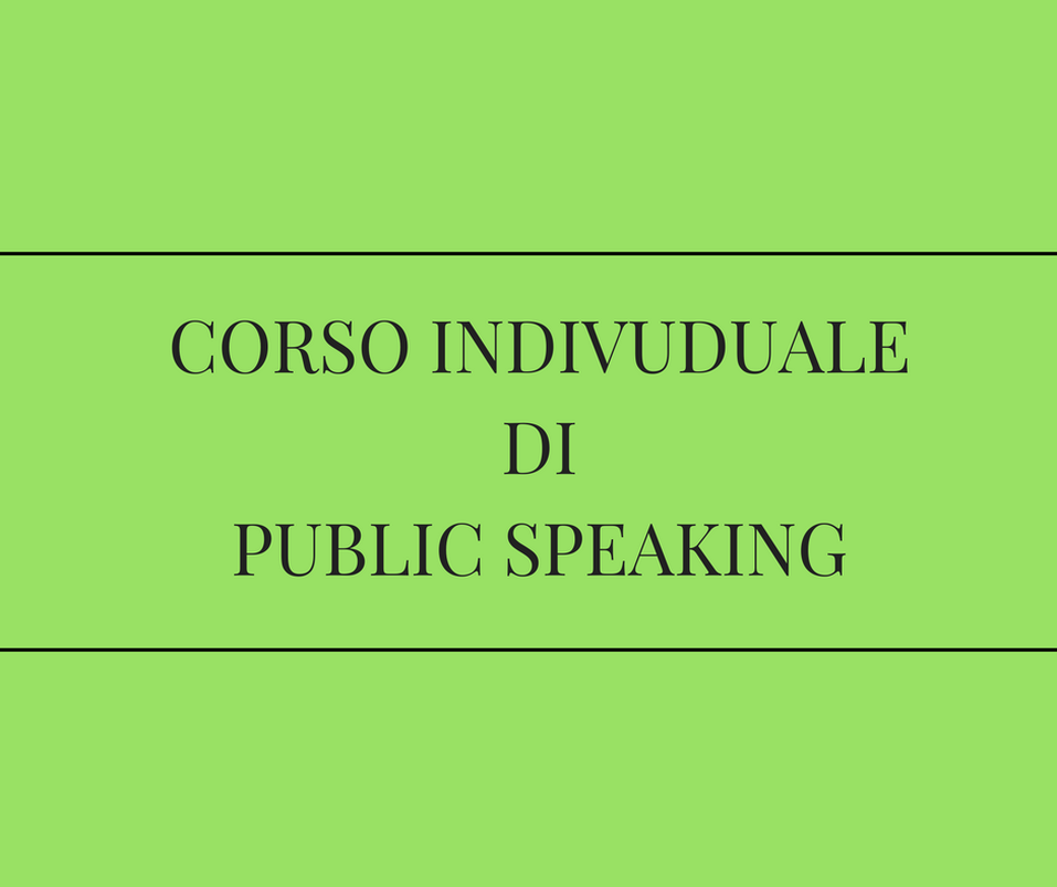 corso individuale di public speaking